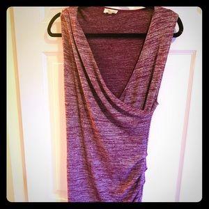 Wilfred Free body con faux wrap style dress.